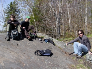 Professors Czarnezki, Nolon and McCann on Kent's Ledge